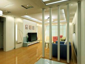 现代简约风格客厅隔断设计装修效果图赏析