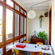 中式风格精致封闭式阳台设计装修效果图赏析