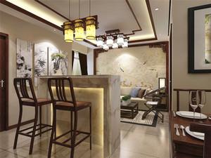 中式风格精致家装客厅吧台设计装修效果图赏析