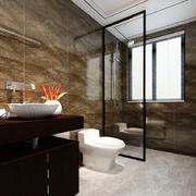 中式风格大户型室内卫生间隔断装修效果图