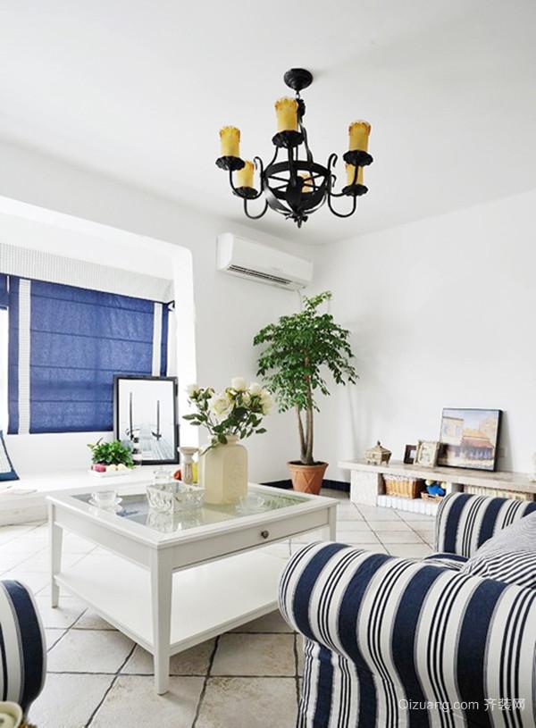 简约自然地中海风格别墅室内装修效果图案例