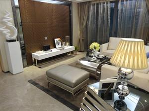 123平米时尚混搭风格室内两室两厅室内装修效果图赏析