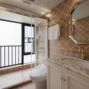 时尚混搭风格大户型室内卫生间装修效果图赏析