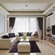 简欧风格温馨大户型室内客厅吊顶装修效果图赏析