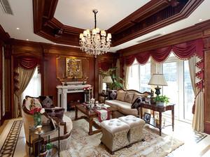 312平米美式风格别墅精装室内装修效果图案例