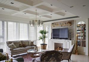 120平米清新美式风格室内装修效果图案例
