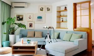96平米日式风格简约三室两厅装修效果图赏析