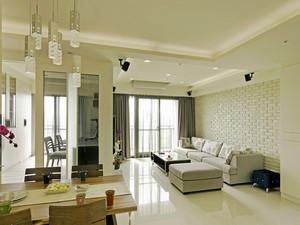 118平米现代简约风格两室两厅一卫装修效果图