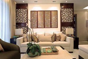 120平米中式风格精致典雅室内装修效果图鉴赏