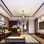 中式风格简装客厅装修效果图赏析