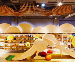 106平米现代简约风格书店设计装修效果图赏析