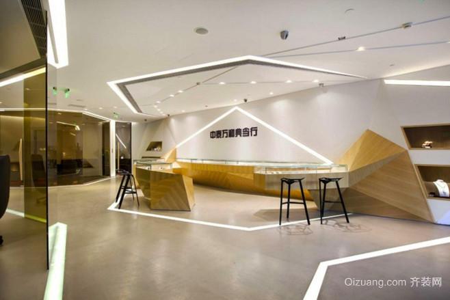 300平米現代風格辦公室前臺設計裝修效果圖賞析