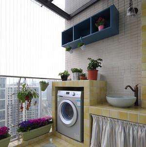 121平米地中海风格混搭三室两厅室内装修效果图