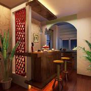 异域风情东南亚风格室内吧台设计装修效果图