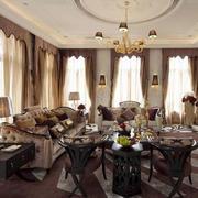 法式风格别墅室内奢华客厅装修效果图鉴赏