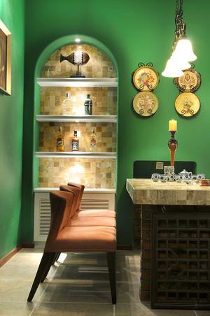100平米复古时尚色彩混搭风格室内装修效果图
