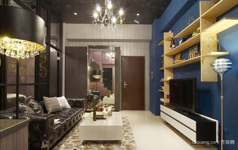 64平米时尚混搭风格精装单身公寓装修效果图