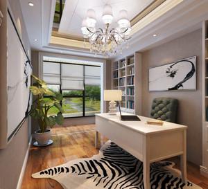 16平米简欧风格简约书房设计装修效果图