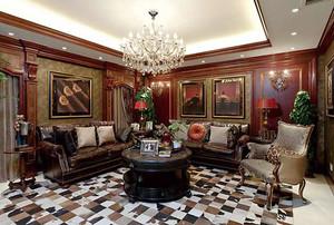298平米美式风格别墅室内装修效果图赏析