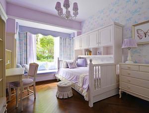 18平米简欧风格浅色温馨儿童房装修效果图