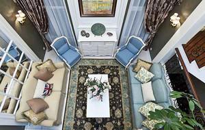 156平米欧式田园风格三室两厅室内装修效果图赏析