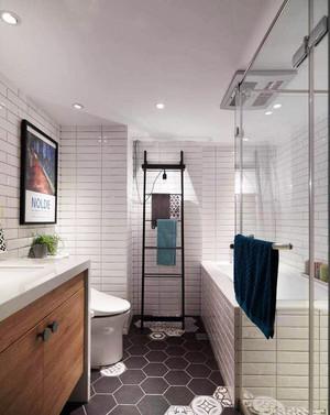 10平米现代简约风格卫生间设计装修效果图