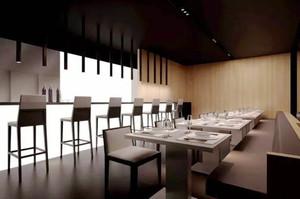 75平米简约风格西餐厅设计装修效果图赏析
