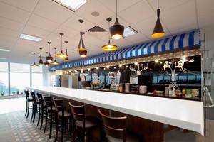 时尚混搭风格咖啡厅吧台设计装修效果图
