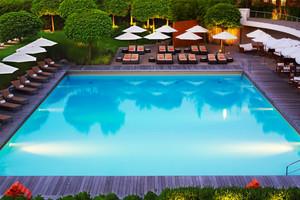 东南亚风格五星级酒店游泳池装修效果图赏析