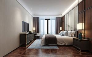 50平米新中式风格宾馆客房设计装修效果图赏析