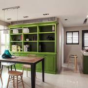 北欧风格时尚绿色餐厅设计装修效果图赏析