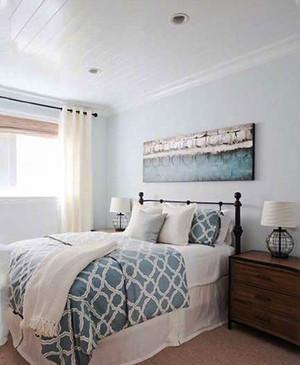 北欧风格简约浅色卧室装修效果图大全