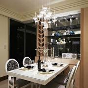 欧式风格精美餐厅吊灯设计装修效果图