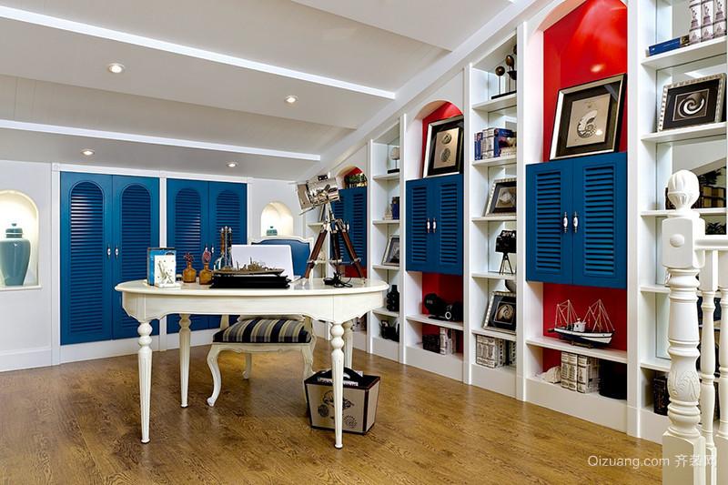 300平米蓝白经典地中海风格别墅装修效果图案例
