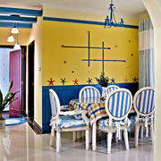 地中海风格创意餐厅背景墙装修效果图赏析
