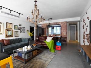 152平米复古工业风格大户型室内装修效果图鉴赏