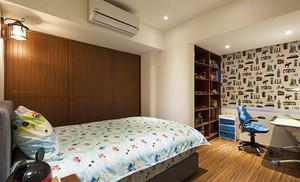 129平米美式乡村风格三室两厅室内装修效果图赏析