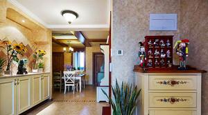 108平米美式田园风格两室两厅室内装修效果图赏析