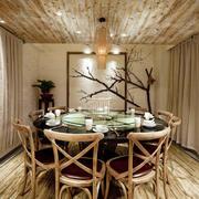 简约中式风格大户型创意餐厅装修效果图赏析