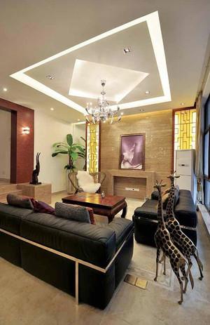 219平米中式风格简装别墅室内装修效果图赏析