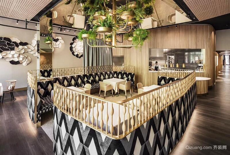 混搭风格创意西餐厅设计装修效果图赏析