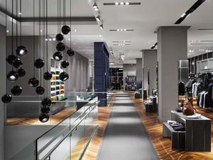 300平米后现代风格服装店装修效果图赏析