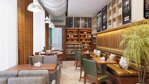56平米乡村风格咖啡厅装修效果图