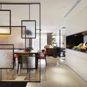 新中式风格两居室餐厅隔断设计装修效果图赏析