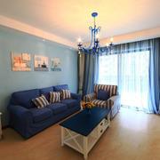 地中海风格自然蓝色客厅装修效果图赏析