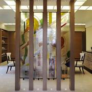 东南亚风格复式楼室内餐厅隔断设计装修效果图