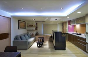 62平米后现代风格一居室小户型装修效果图赏析