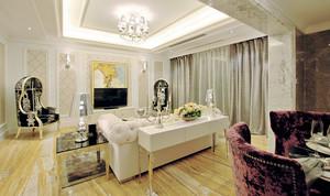 132平米欧式风格精美三居室婚房装修效果图赏析