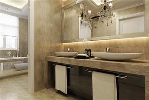 166平米欧式风格精装大户型室内装修效果图鉴赏