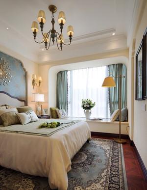 简约美式风格卧室飘窗设计装修效果图赏析